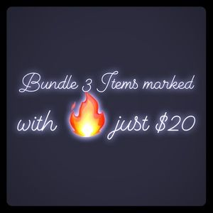 Accessories - Bundle 3 items marked 🔥 for $20